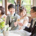 ◆大切な家族と結婚式 6名30万円~ 【挙式+会食プラン】