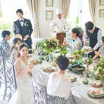 30名から貸切 親族中心の会食会ウェディングプラン