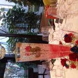 テーブルの装飾とルミファンタ。