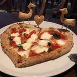 ハートのピザ