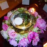 プラン内のゲストテーブル装花