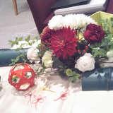 部屋に合わせたお花にしてもらいました