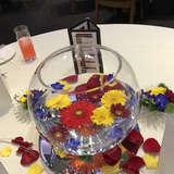 各テーブルに飾られていたお花!