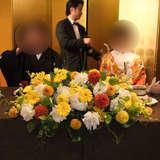 メインテーブルお花