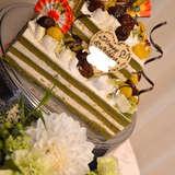 栗と抹茶のウェディングケーキ