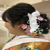 髪飾りを手作り!鶴が好評でした。