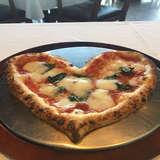ハート型のピザ