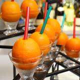 ガーデンで出してもらったオレンジジュース