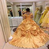 ディズニー映画「美女と野獣」ベルのドレス