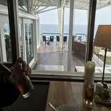 親族控え室からの景色、ウッドデッキ