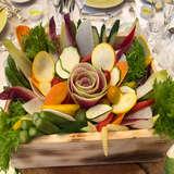 花の代わりに食べられる野菜で装飾