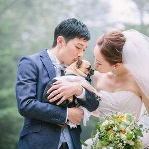 【愛犬との結婚式】結婚式当日OR前撮りにてしっかり写真撮影