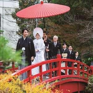 【日本庭園挙式プラン「祝言」】美しい日本庭園での人前式