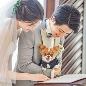【ペットと一緒に】73700円の挙式プラン☆