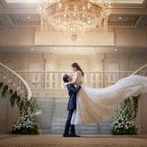 プリンセスの、憧れの舞台となる光の階段がある大会場