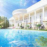まるで海外セレブの大邸宅。プール付ガーデンが華麗な空間は、空・緑・光・水がきらめき、自由さと開放感に満ちています。
