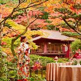 神戸市名勝庭園に指定された日本庭園での前撮りが人気