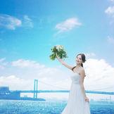 チャペルやお食事会場からは、東京ベイやレインボーブリッジを一望!