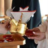 三献の儀 新郎様 新婦様が夫婦の契りを交わす儀式です
