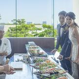 寿司Liveバーで海を臨みながらのお食事