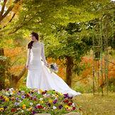 季節によって色調を変えるガーデンの木々と、一面の花が結婚式をより彩り豊かな雰囲気に。