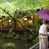 日本庭園が和装を引き立てます♪