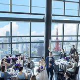 最大85名まで着席可能。東京の絶景と美食でゲストをおもてなしできる