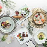 会津産の野菜を使い、郷土料理をアレンジしたコースです。