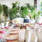 ゲストとの距離も近いからホームパーティー感覚で行える披露宴♪アットホームなパーティーを。