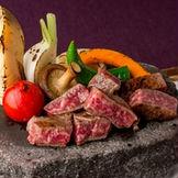 厳選和牛のステーキはゲストにも大人気!