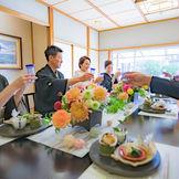 ザ・モーリスの和室『菱屋』は三嶋大社での神前式後のお食事会に