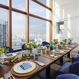 第一ホテル東京の高層階のレストラン