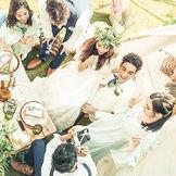 テントやデザートビュッフェを囲んで友人との思い出話に花を咲かそう