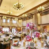 天井が高いパーティ会場なのでゲストがゆったりと過ごせる