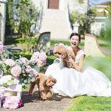 笑顔が溢れるリゾート空間で特別な1日を過ごすことができる。すべてが貸切だから、愛犬との参加もOK!