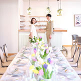 【カフェ・ド・オリーブ】小さなカフェで、大切な人とだけ過ごす、ウェディングパーティー