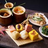 一皿目「祝皿」は横山大観が愛した「大観漬け」など、職人の細やかなおもてなしを堪能できます。