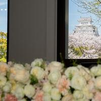 メイン席後方からは世界遺産姫路城が間近に!