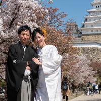 挙式前には姫路城までお散歩