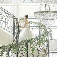らせん階段も装飾可能です!お花やリボンで華やかに♪