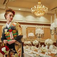 和装のお二人にもぴったりな落ち着いた披露宴会場も!日本古来の美しさを体感ください!
