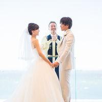 蒼い海に近くお2人の夫婦としての約束