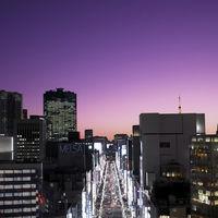 銀座からもほど近く、東京らしいシティビューがゲストを迎える