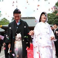 挙式の後の人気のセレモニー「折り鶴シャワー」