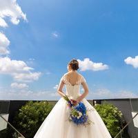 最上階の大階段では、青空をメインにした前撮り写真を撮影することも可能!