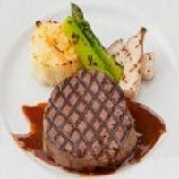 お披露目[慶] 洋食  黒毛和牛フィレステーキ 焼き野菜添え