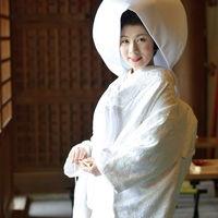 白無垢に綿帽子スタイル