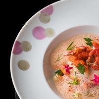 オマール海老 シンプルにグリエ 旬野菜添え シャトーシャロンのソース