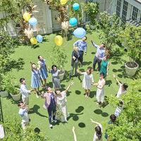 ガーデンではバルーンリリースも可能。