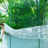 緑溢れる雰囲気が、花嫁様のウエディングドレス姿をより美しく映し出す
